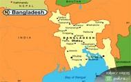 mapa Bangladesz