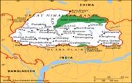 mapa Bhutan