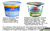 jogurt naturalny zott - opakowania