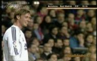 Fc Barcelona - Real Madryt [Gran Derby Europa 10.03.2007] gol Sergio Ramosa tyłem głowy
