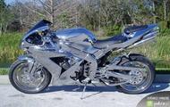 chromowany motocykl