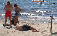 pilnowanie miejsca na plaży 2 Euro