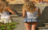 Bardzo mini spódniczka