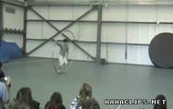 Giant hula hoop skills - Extreme