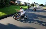 Szalona jazda na rowerach