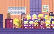 Intro Simpsonów w stylu 8-bitowym