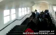 Debil na schodach
