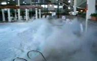 Płynny azot w basenie