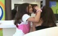 Małe dziewczynki w salonach piękności