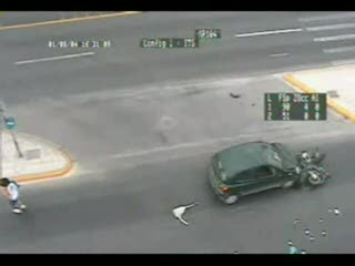 Wypadek na skuterze