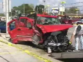 Śmiertelny Wypadek Samochody Samochód Zderzenie Wypadki