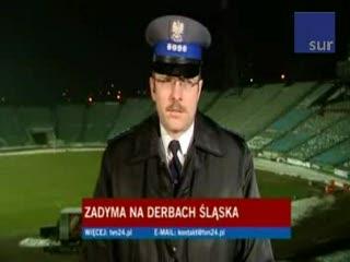 Zadyma na derbach Śląska