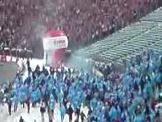 Zadyma Wielkie Derby Śląska 2009 Ruch vs. Górnik cz.2