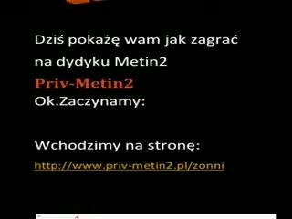 [TUTORIAL]Rejstracja na Priv-Metin2 Dedyk Metin2