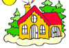Pokoloruj domek